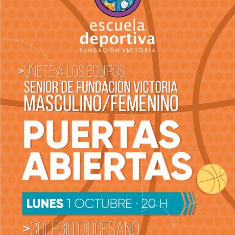 Únete a los equipos senior de baloncesto de Fundación Victoria