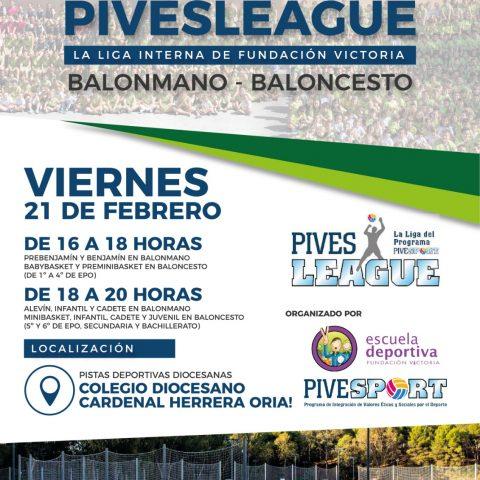 La segunda jornada de la PIVESleague se celebrará el viernes 21 de febrero