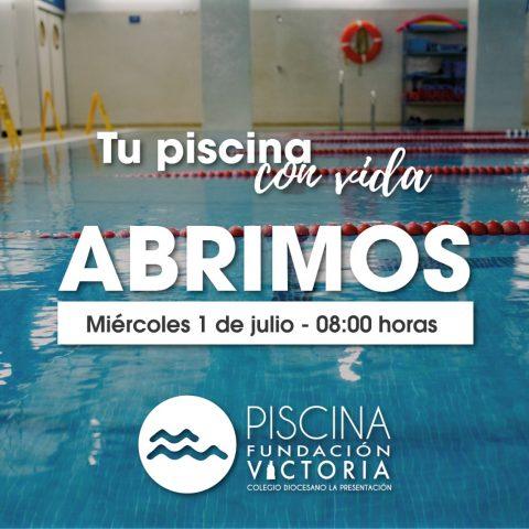 La Piscina Fundación Victoria reabre el miércoles 1 de julio