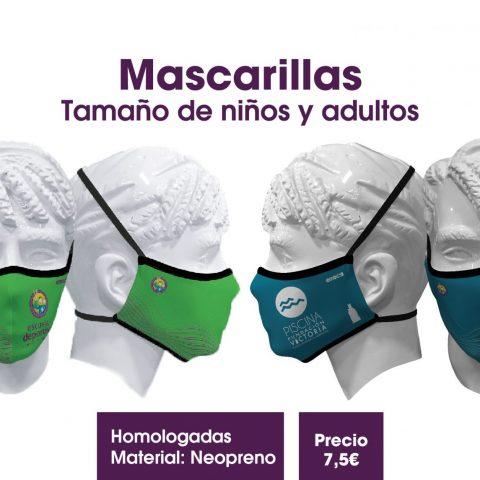¡A la venta las mascarillas de la Escuela Deportiva y Piscina Fundación Victoria!