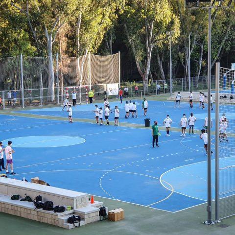 Las Pistas Deportivas Diocesanas acogen la tecnificación de la Delegación Malagueña de Balonmano