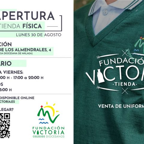 Disponibles las prendas de la Escuela Deportiva en la Tienda Fundación Victoria
